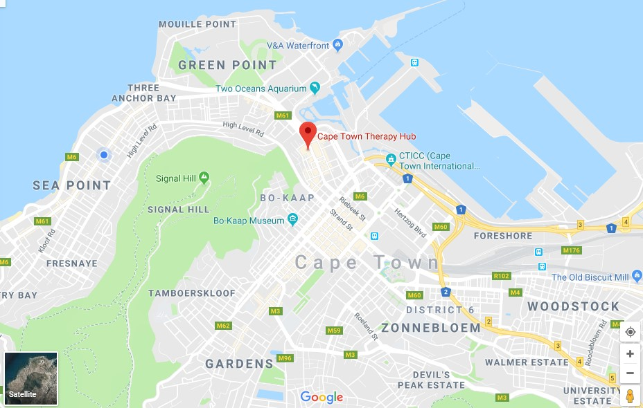 Cape Town Therapy Hub Map